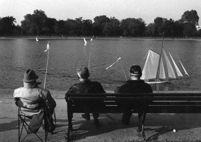 Männer im Hyde Park, London
